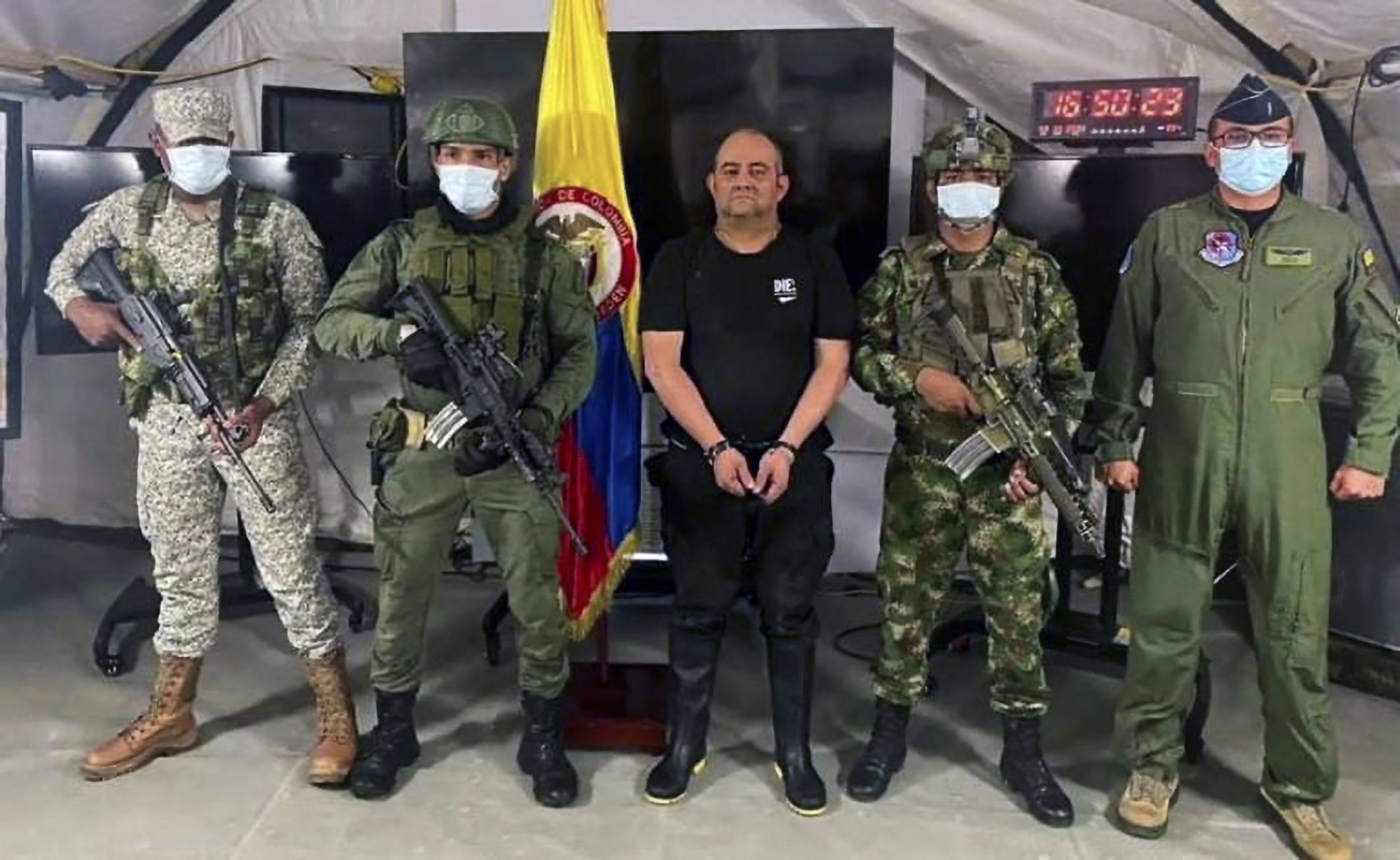 Colombia's Top drug Trafficker Otoniel Held