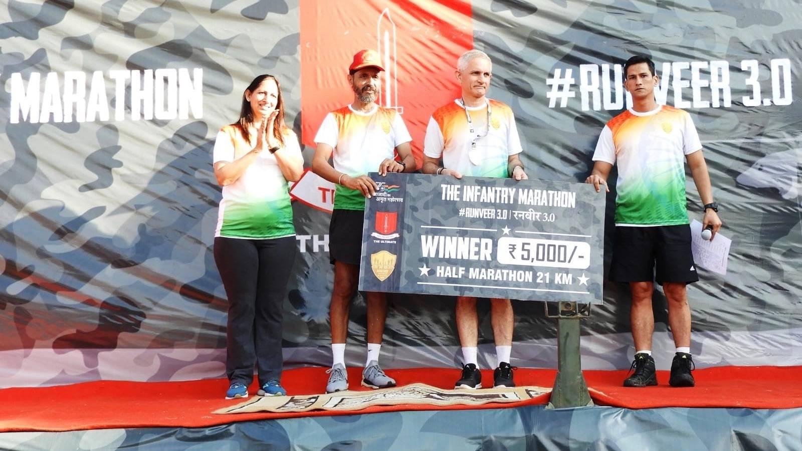 Infantry School hosts RUNVEER 3.0 marathon race