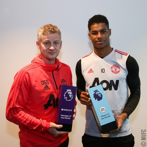 Rashford And Solskjaer Win Premier League January Awards