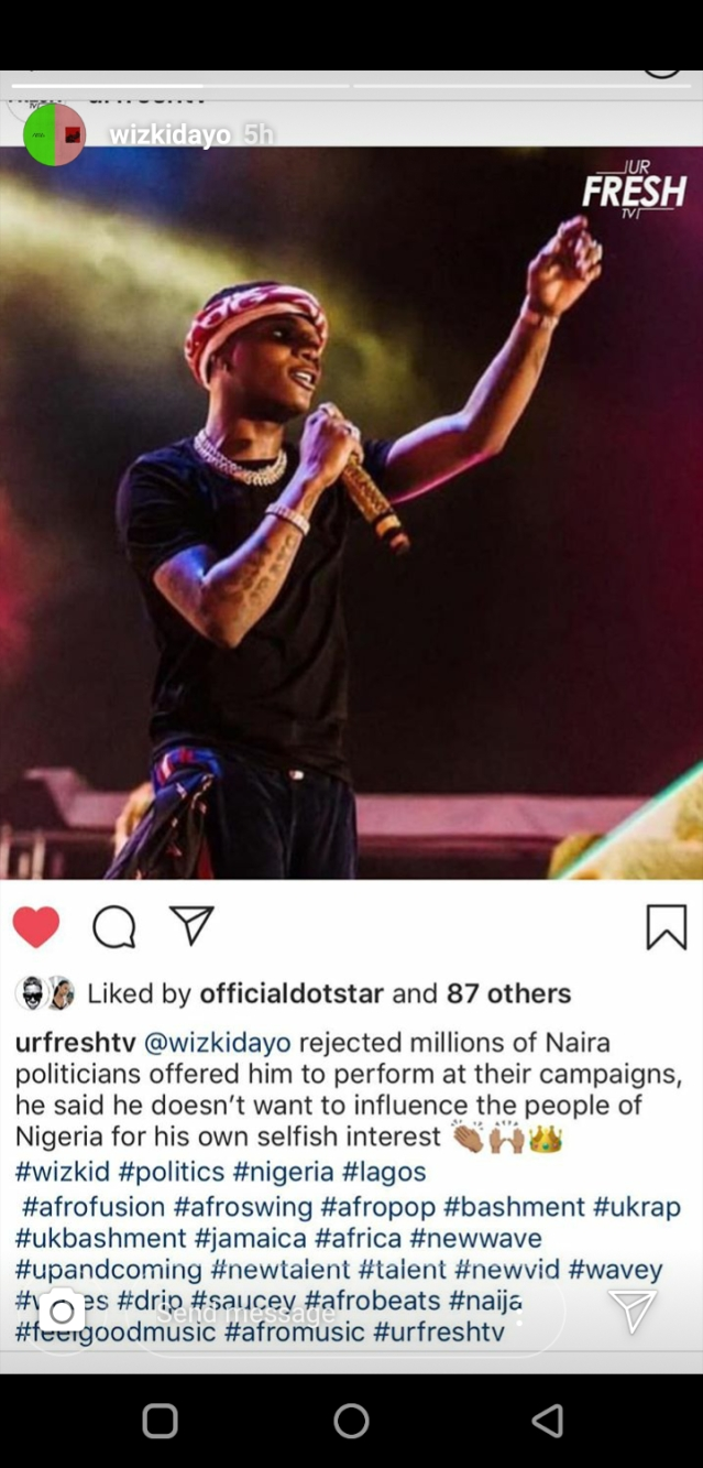Wizkid And Davido Resurrect Beef Over Political Allegiance
