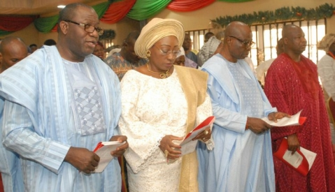 Gov. Kayode Fayemi, Wife and guests