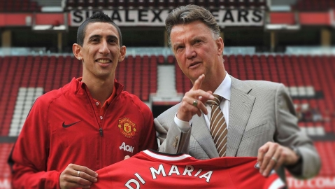 Di Maria Says He Only Had Issues With Van Gaal After Hostile Old Trafford Reception