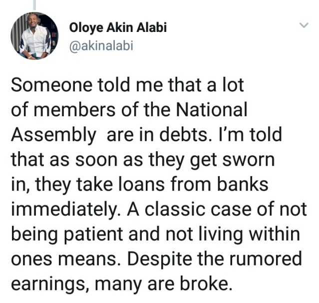 Nairabet Owner, Akin Alabi, Blasts Man Who Applied For Car And House Loan Soon After Getting 950k Job