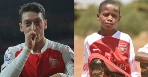Ozil Sends Signed Arsenal Jerseys To Kenyan Herdsboy Who Couldn't Afford One