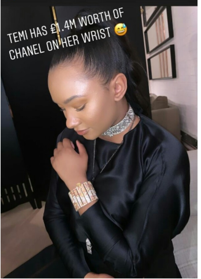 Temi Otedola Flaunts Chanel Bracelet Worth £ 1.4 million