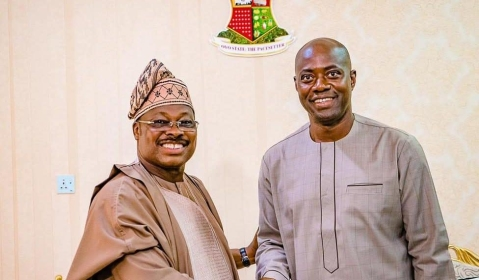 Ajimobi and Oyo State Governor-Elect, Seyi Makinde