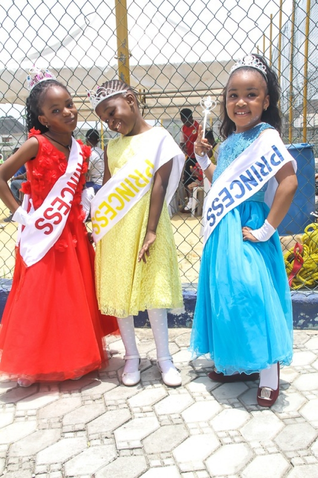 Princesses of RUBY, SAPPHIRE and TOPAZ at the Artville School Inter-house Sports