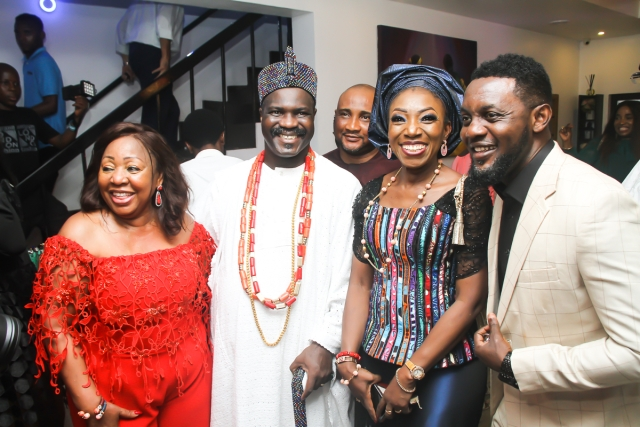 Ita Giwa Poses with her guests