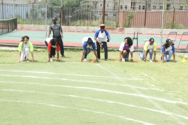 Parents racing at the Artville School Inter-House Sports
