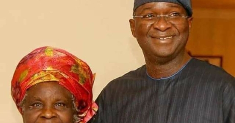 Minister Of Power And Works, Raji Fashola, Celebrates Mom At 80