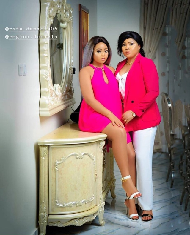Regina Daniels and mother, Rita Daniels
