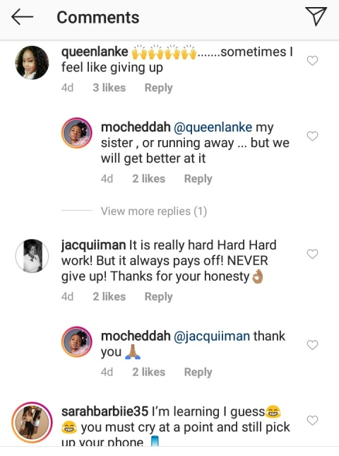 Mocheddah Opens Up On Her Struggles With Life And Entrepreneurship