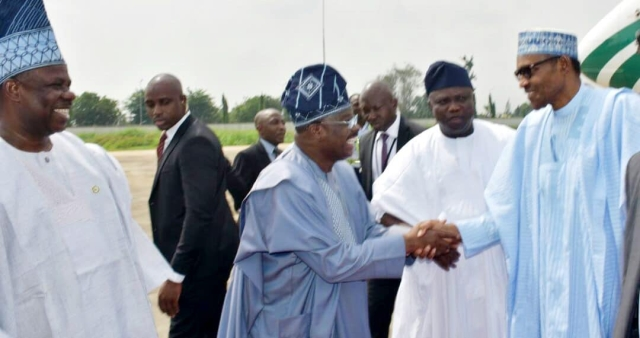 Other Governors Joined Ambode in Lagos to welcome the president