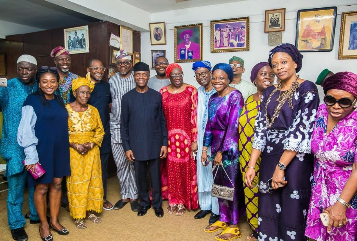 Cross session of the family with Osinbajo