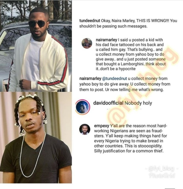 Naira Marley And Tunde Ednut Fight Dirty Over 'Yahoo Boy' Allegation