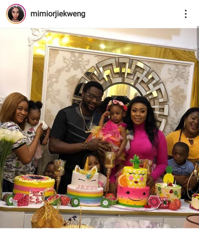 Actress, Mimi Orjiekwe, Celebrates Daughter's Birthday With Baby Daddy, Charles Billion