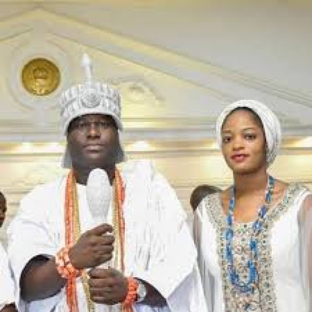 Olori with Ooni of Ife