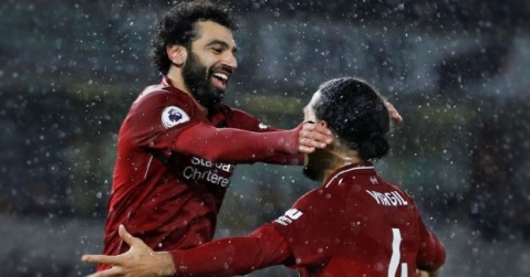 Virgil van Dijk and Mohamed Salah