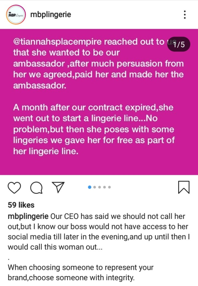 MBP Lingerie Accuses Toyin Lawani Of Intellectual Theft
