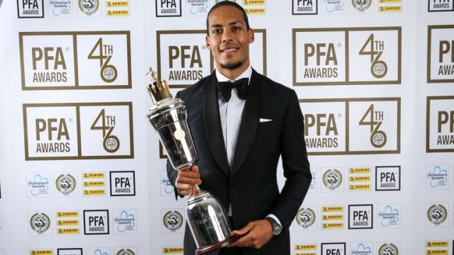 Van Dijk Pips Sterling And Hazard To PFA Player Of The Year Award