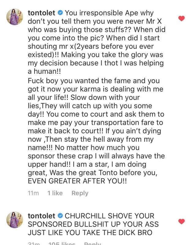 See How Tonto Dikeh Responded To Her Ex-Husband's Allegations