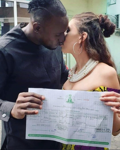 BBN Housemate Angel Secures Visa out of Nigeria, Marries Canadian Model