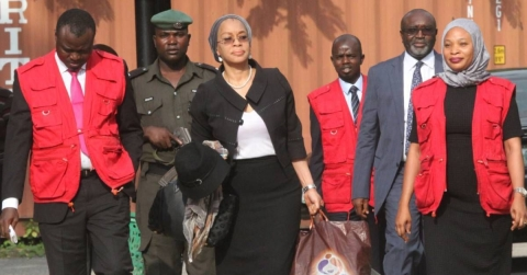 Justice Ofili during her arrest in Lagos