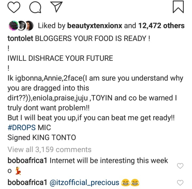 Revealed! This Why Tonto Dikeh Called Out Tuface And Annie Idibia