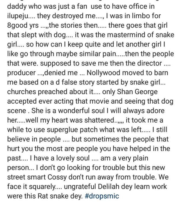Cossy Ojiakor Explains Why She Labelled Halima Abubakar A Green Snake
