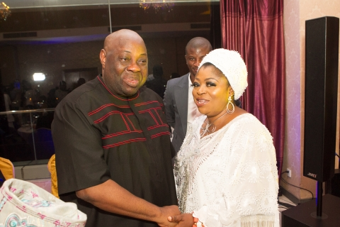 Bashorun Dele Momodu with Chief (Mrs) Princess Toyin Kolade