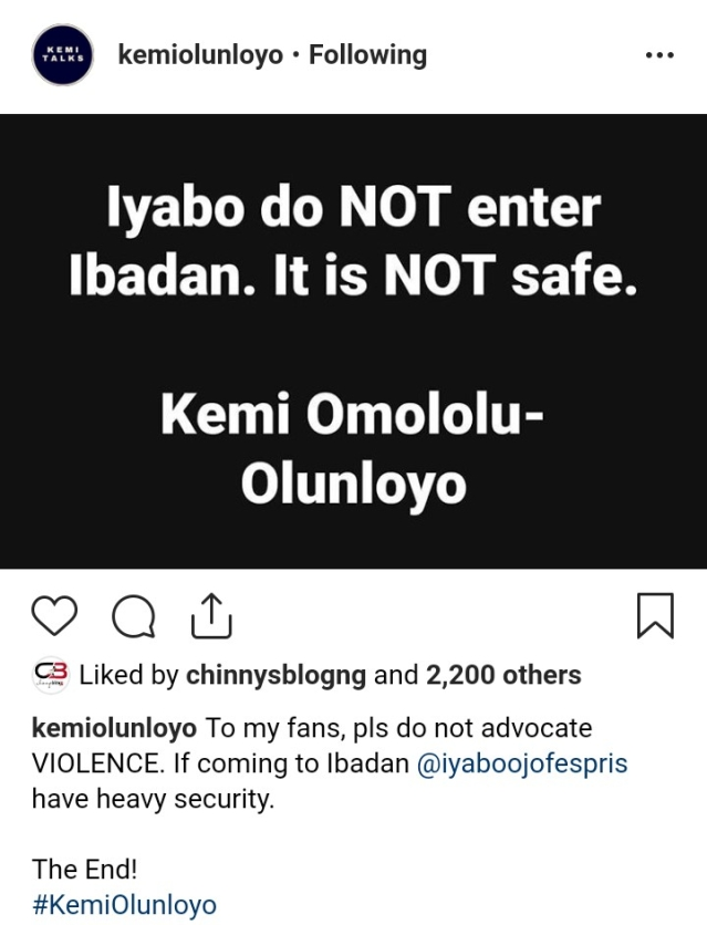 Iyabo Ojo Attempted To Bribe Me With House And Cars - Kemi Olunloyo