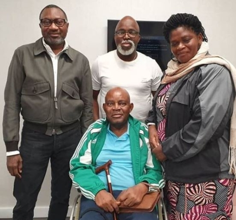 Christian Chukwu, his wife, Femi Otedola, and Pinnick