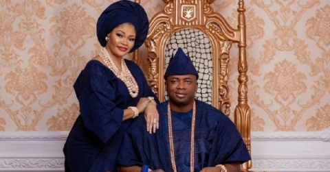 Oba Elegushi and first wife, Olori Aramide