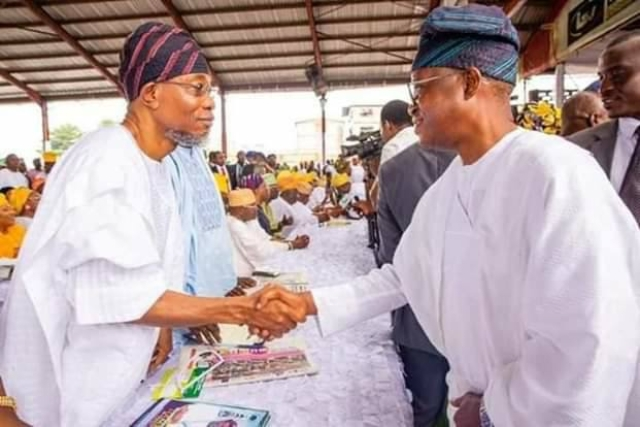 Governor Isiaka Oyetola and his predessesor, Aregbesola