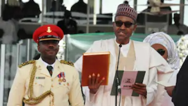 Buhari taking oaths of office