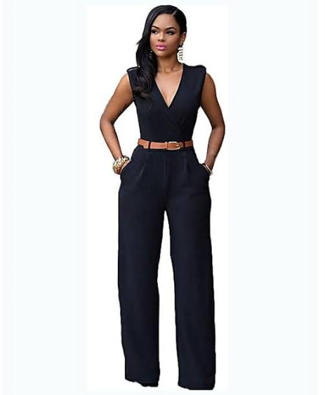 A black jumpsuit look