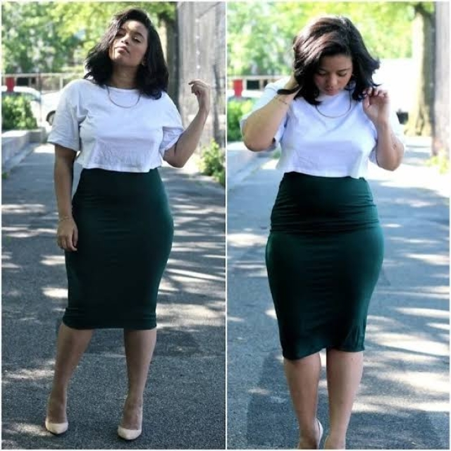 A pencil skirt look