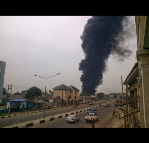 Fire  In Port Harcourt Shopping Mall Leaves Many Injured