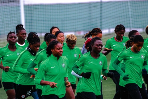 Super Falcons Hold First Training Session In France Ahead Of Women's World Cup