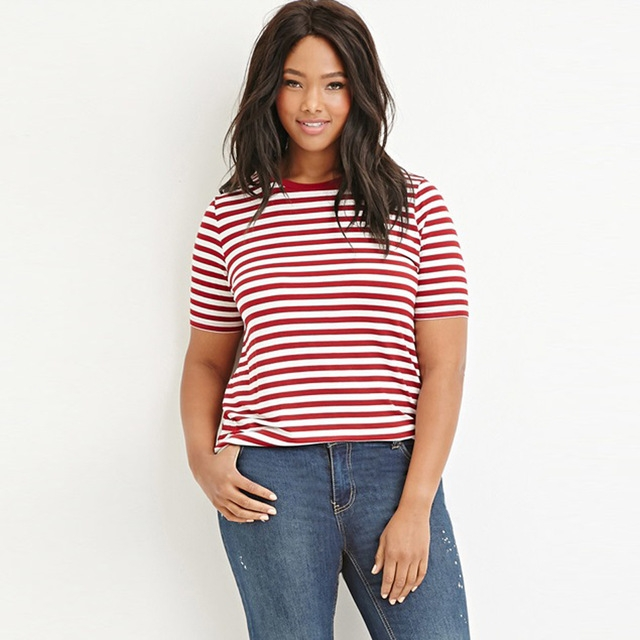 A classic striped T-shirt look