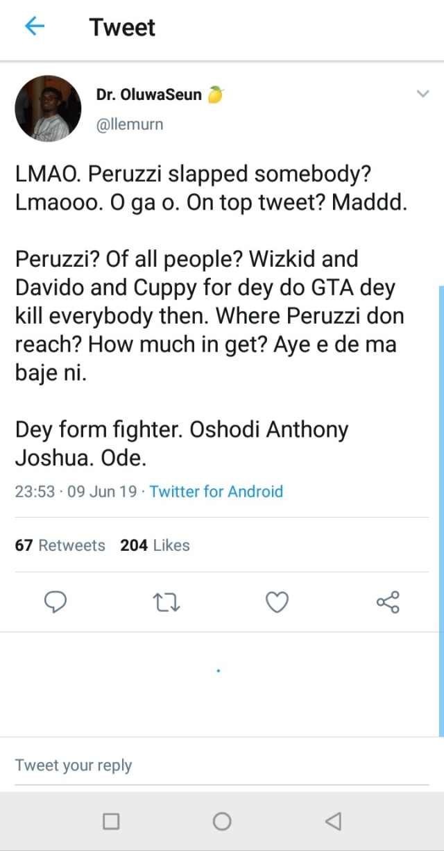 Davido and Peruzzi Beg Twitter Influencer The Pamilerin For Forgiveness After Violent Assault