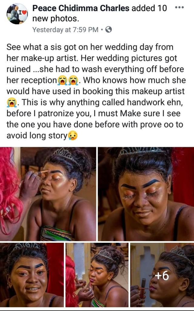See The Horrible Makeup That Ruined A Lady's Wedding Pictures