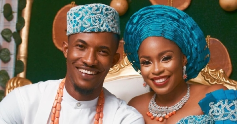 Gideon Okeke and wife