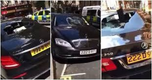 Nigerian Man Damages Cars In An Embassy In London