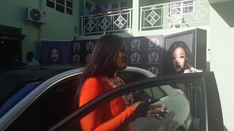 Cee-C and her brand new Mercedes Benz E-Class
