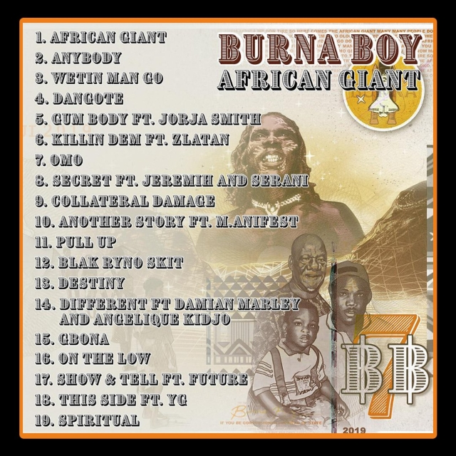 AFRICAN GIANT tracklist