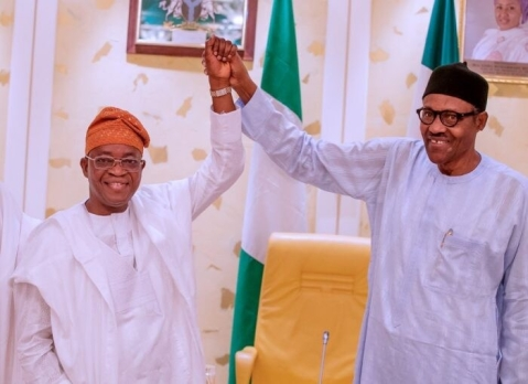 Buhari and Oyetola after the victory