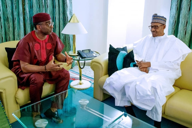 Buhari, Segun Awolowo Meet At State House