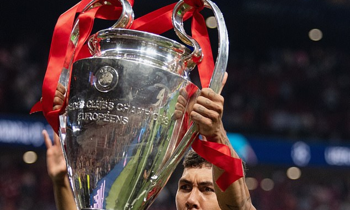 Liverpool's Firmino Gets Tattoo Of Himself Lifting The UEFA Champions League Trophy