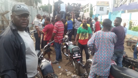 Lagos State Task Force Operatives Impound 95 Motorcycles